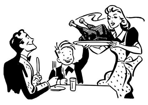 kleurplaat thanksgiving maaltijd afb  images
