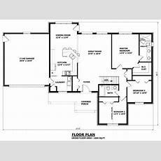 Simple Small House Floor Plans Bungalow House Plans