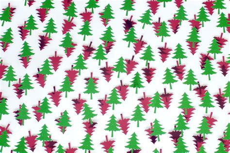 photo  red  green tree shapes  christmas images