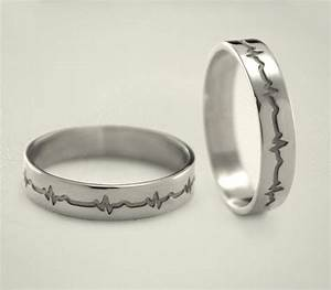 heartbeat engagement rings heartbeat silver wedding bands With silver wedding rings for her