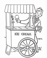 Ice Cream Coloring Pages Stand Parlor Printable Bestcoloringpagesforkids sketch template