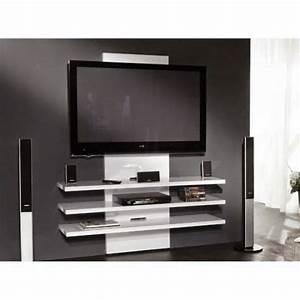 Meuble Sous Tv Suspendu : dix meubles tv suspendus au mur ~ Teatrodelosmanantiales.com Idées de Décoration