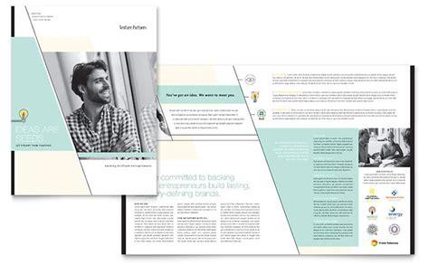 venture capital firm brochure template design
