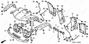 Honda Atv 2004 Oem Parts Diagram For Front Fender