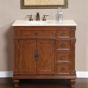 36quot Silkroad Esther Single Sink Cabinet Bathroom Vanity