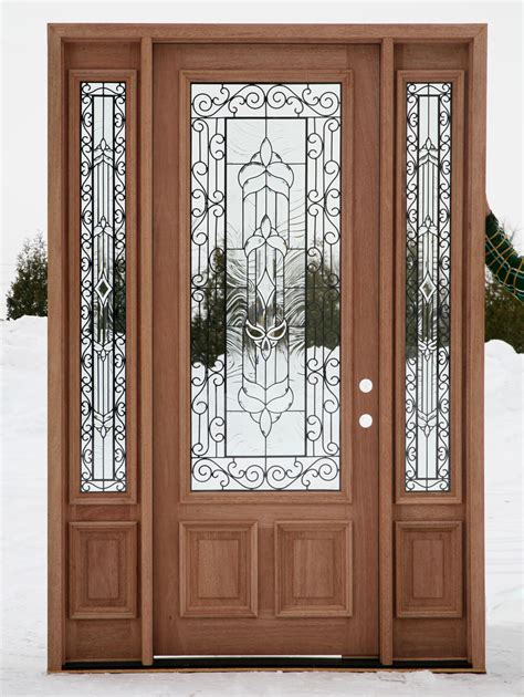 wood exterior doors with glass front doors with glass are irreplaceable for a country