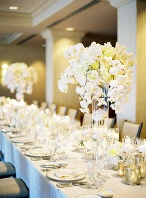 Best White Orchid Centerpieces Images Pinterest