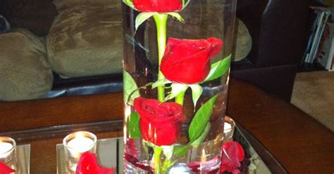Submerged Rose Centerpiece Beauty And The Beast