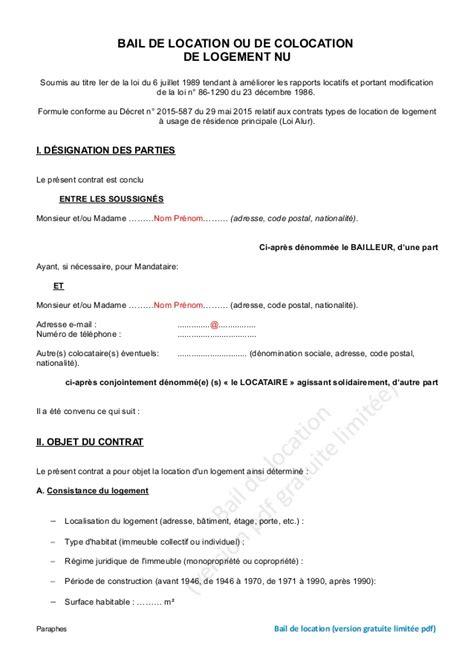 modele lettre ajout personne bail modele bail logement fonction document