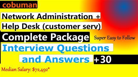 it help desk interview questions network administration and help desk interview questions