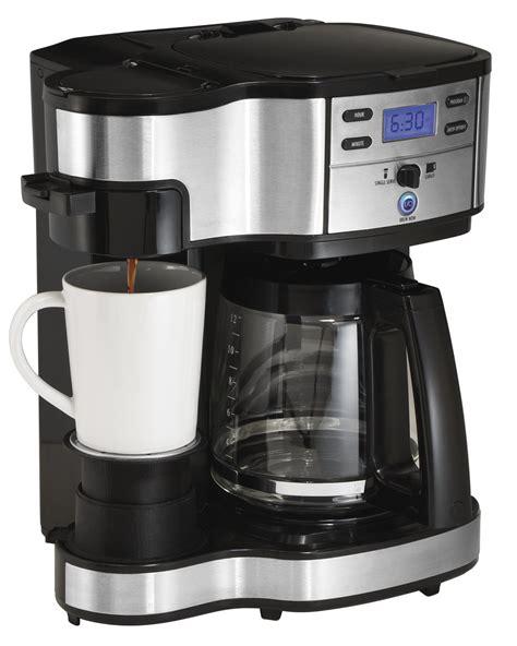 hamilton single serve coffee brewer and pot coffee maker 2 way