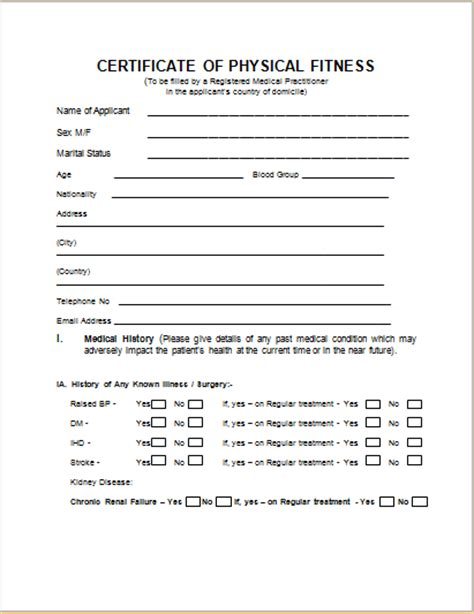 medical certificate template  ms word document hub