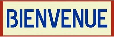 BIENVENUE (WELCOME) SIGN STENCIL - FRENCH - NEW! - The ...