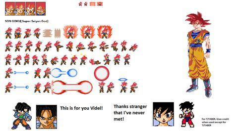 Saiyan God Goku Lsw Sprite Sheet By Mohammadataya On