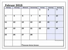 Kalender Februar 2019 MS Michel Zbinden de