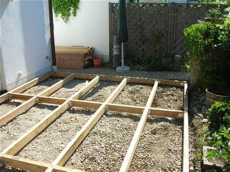 terrassen unterkonstruktion abstand holzterrassen 01