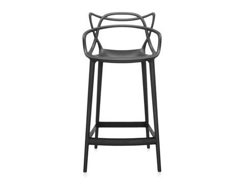 chaise de bar transparente buy the kartell masters bar stool black at nest co uk