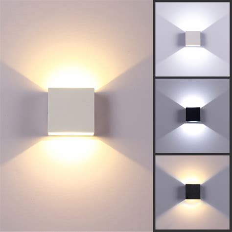 6w Led Square Wall Lamp Hall Porch Walkway Bedroom