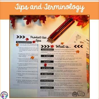 thanksgiving activities parts of speech color by code by it s a teacher thing