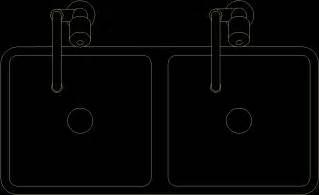 blocks kitchen sinks dwg block  autocad designs cad