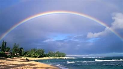 Rainbow Nice Beach Wallpapers Sky Morning Desktop