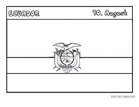 printable flag  ecuador coloring page printable