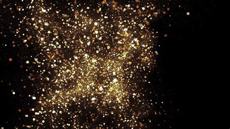 gold sky abstract stardust smokey wave particles nano