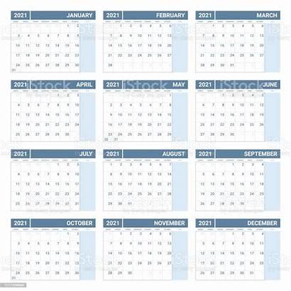 Calendar Printable Yearly Template Simple Annual Week
