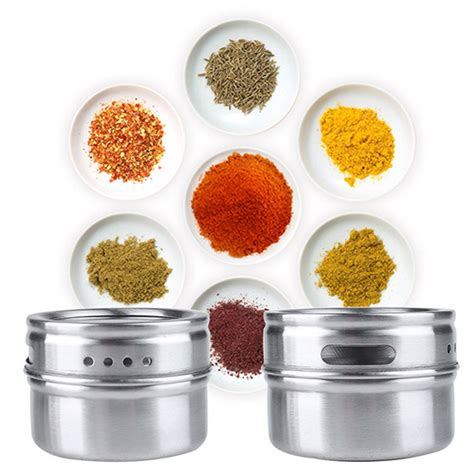 Spice Rack Containers by New Home Magnetic Stainless Steel Spice Storage Rack