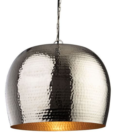 Hammered Metal Pendant Light by Hammered Finish Metal Pendant Diameter 350mm