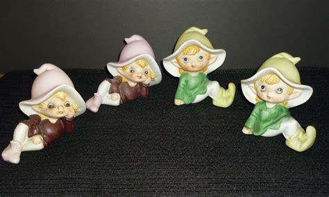 Home Interiors 4 Seasons Figurines : Homco Home Interiors Figurines Garden Pixies Elves Elf