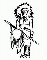 Native American Coloring Chief Tribe Pages Tribes Drawing Printable Getcolorings Getdrawings sketch template