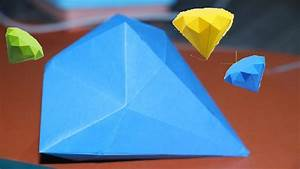 How To Make A Origami Paper Diamond Easy - DIY Simple ...