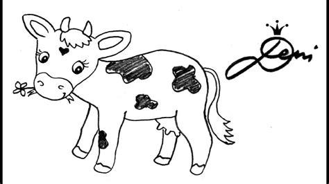 tiere malen leicht kuh schnell zeichnen lernen bauernhof tiere how to draw a cow как се рисува крава