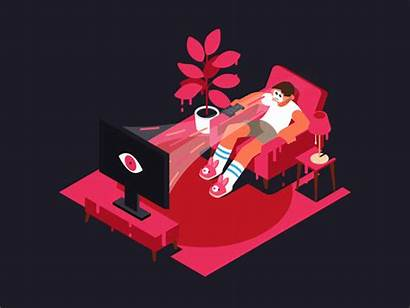 Channel Surfing Animation Dribbble Open 2d Character