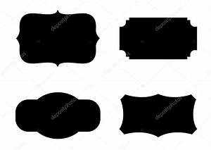Blank Plaque Template Label Shapes Vector Stock Vector Baavli 62677267