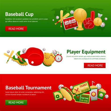 How to download the free file: Baseball banner set | Free Vector