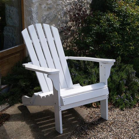 fully assembled adirondack chair in white by plant theatre