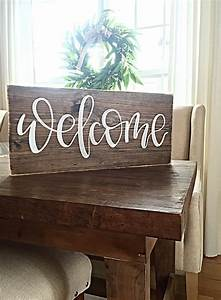 Welcome, Sign, Home, Decor, Rustic, Hand, Painted, Wood, Sign