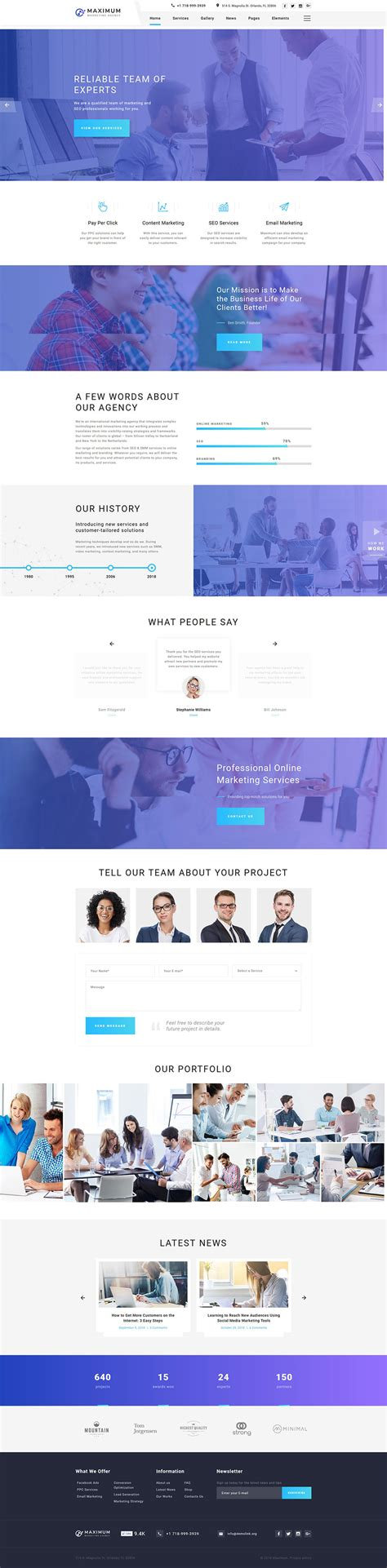 digital marketing websites digital marketing agency website template