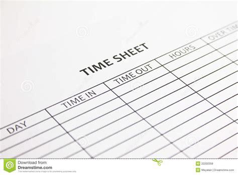 time sheet stock photo image  overtime employee