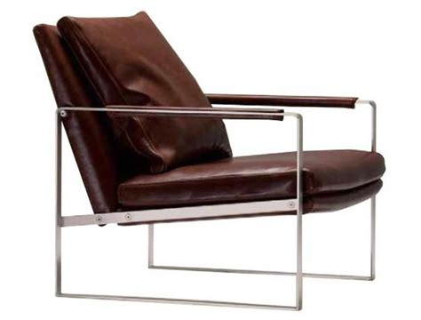 leather lounge chair with stainless frame cool material
