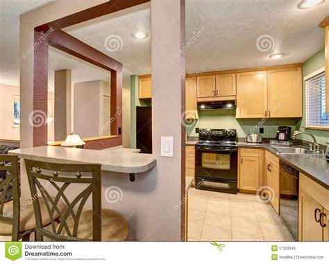 american light wood kitchen interior stock image image