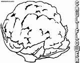 Cauliflower Coloring Cauliflower2 sketch template