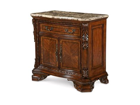 world marble top nightstand with adjustable shelf