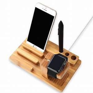 Amazon com: Wood Charging Station Wooden Dock 3 in 1