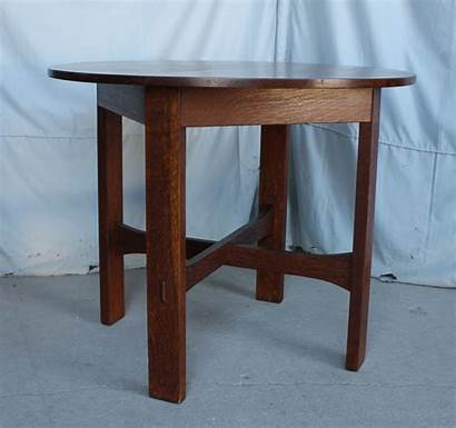 Table Stickley Round 36 Mission Oak Brothers