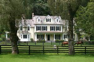 Large Farm House Ideas Photo Gallery by Bedford Farm Farmhouse Exterior