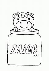 Coloring Milk Cow Pages Carton Cute Children Bottle Baby Food Cartoon Clip Printable Precious Sisters Moments Cool Popular Print Face sketch template