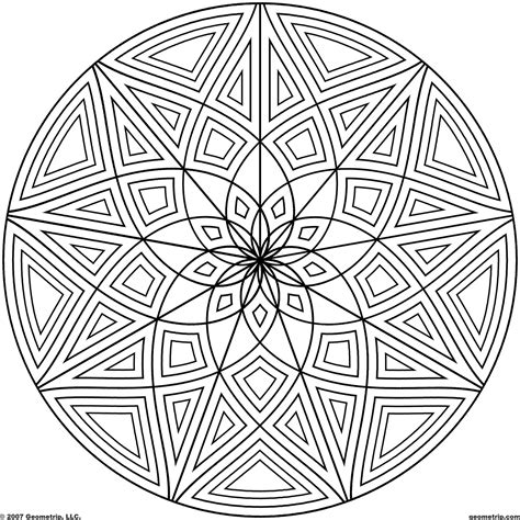 geometric designs to color geometric design coloring page coloring home